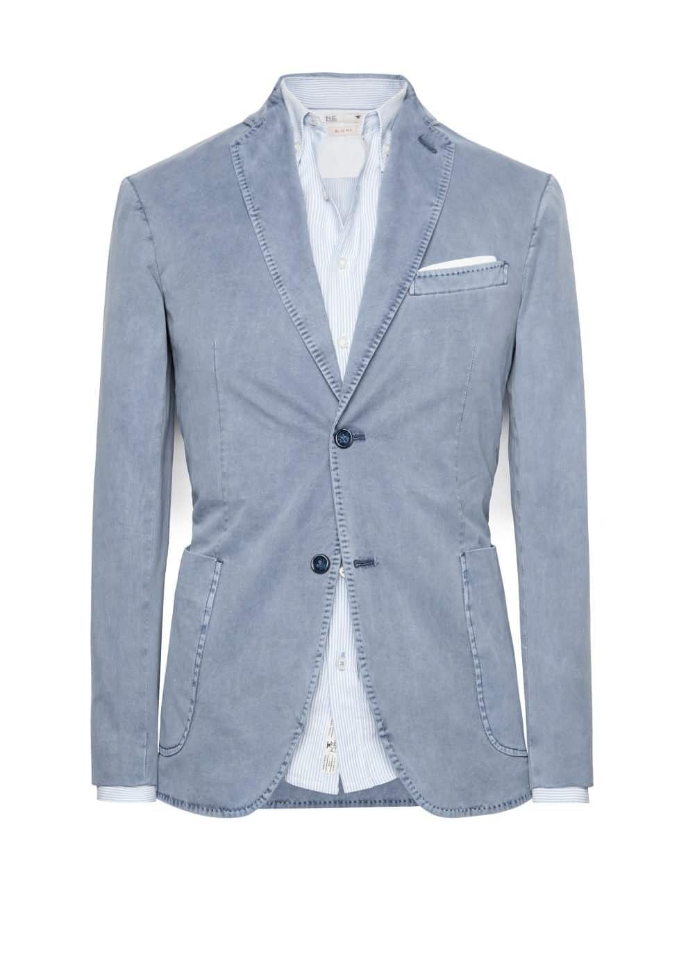 Washed cotton blazer | MANGO