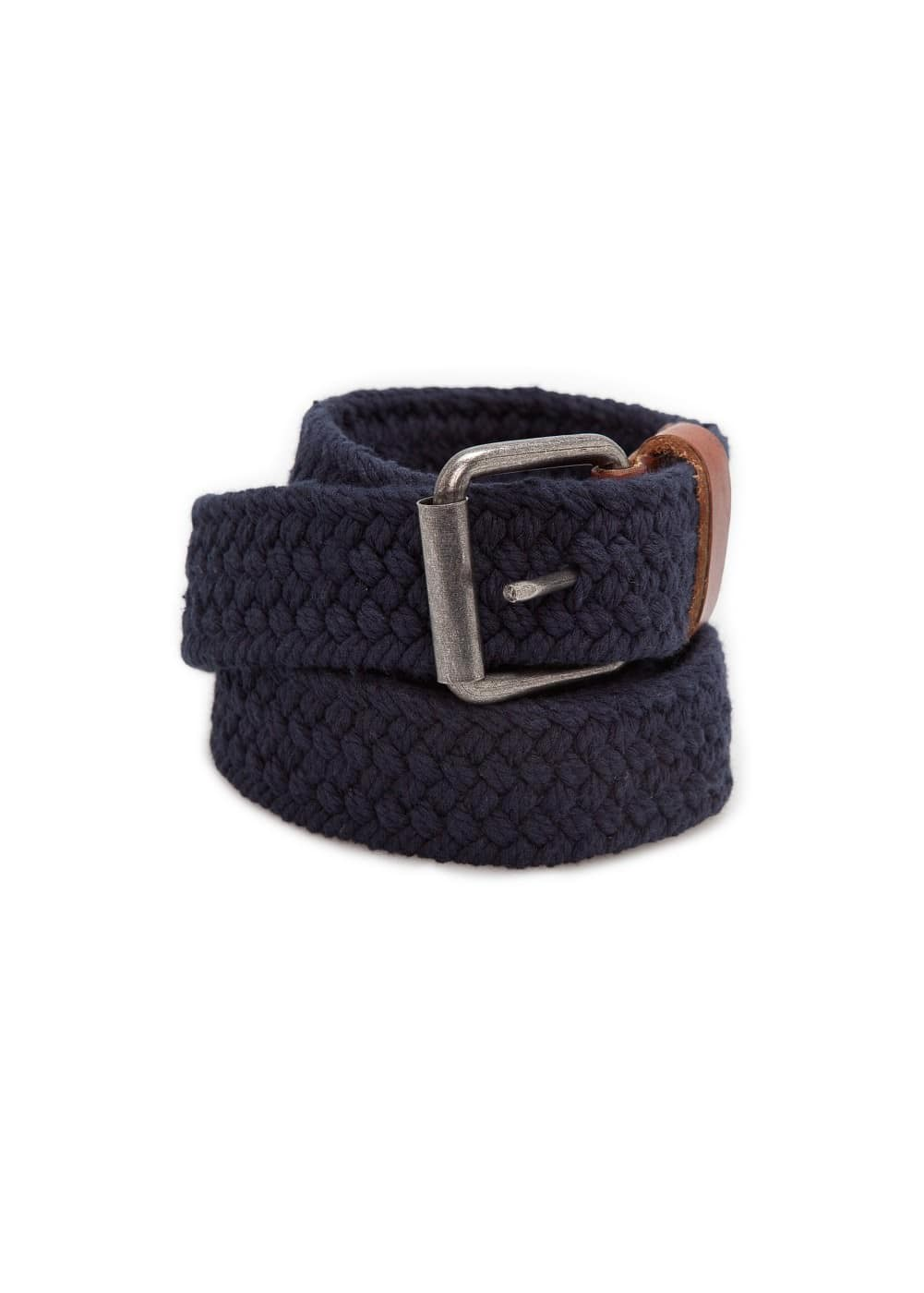 Braided cotton belt | MANGO MAN