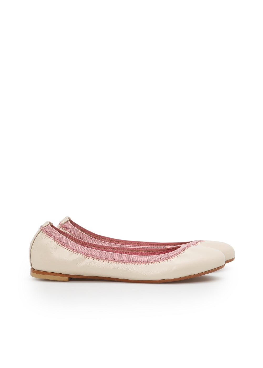 Leather elastic ballerinas | MANGO KIDS