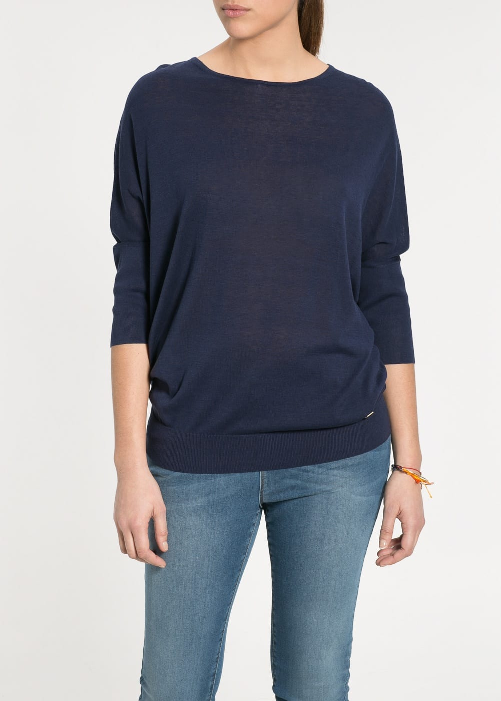 Pull-over coton soie