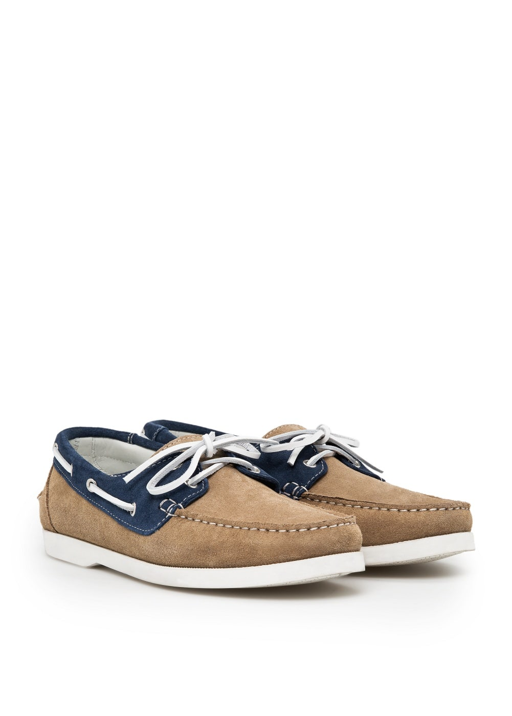 Suede boat shoes | MANGO MAN