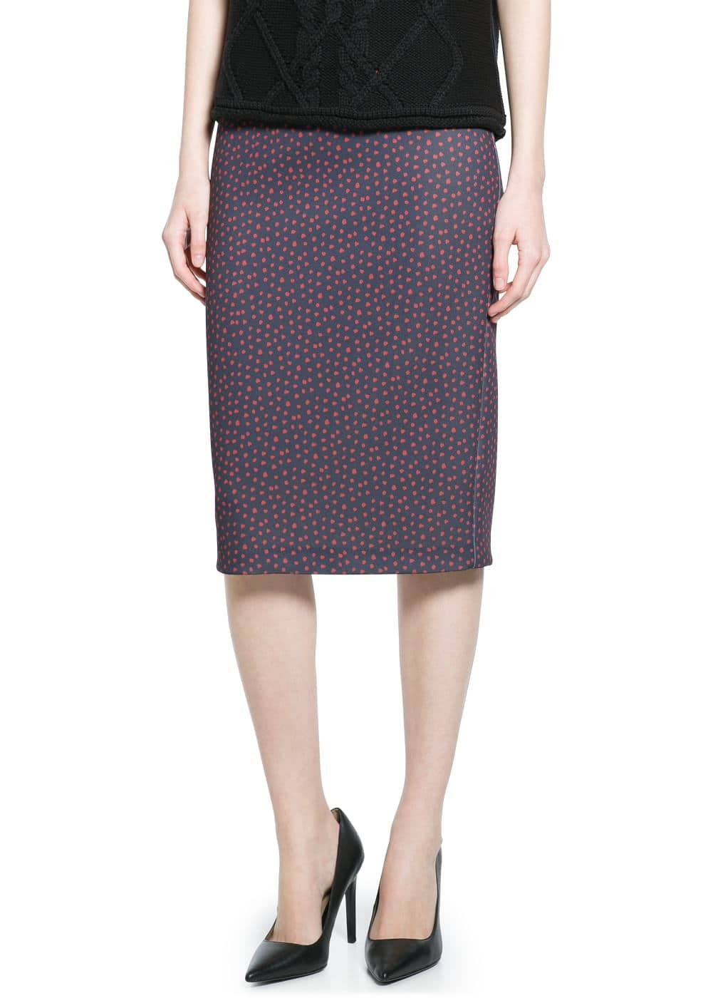 Printed pencil skirt | MANGO
