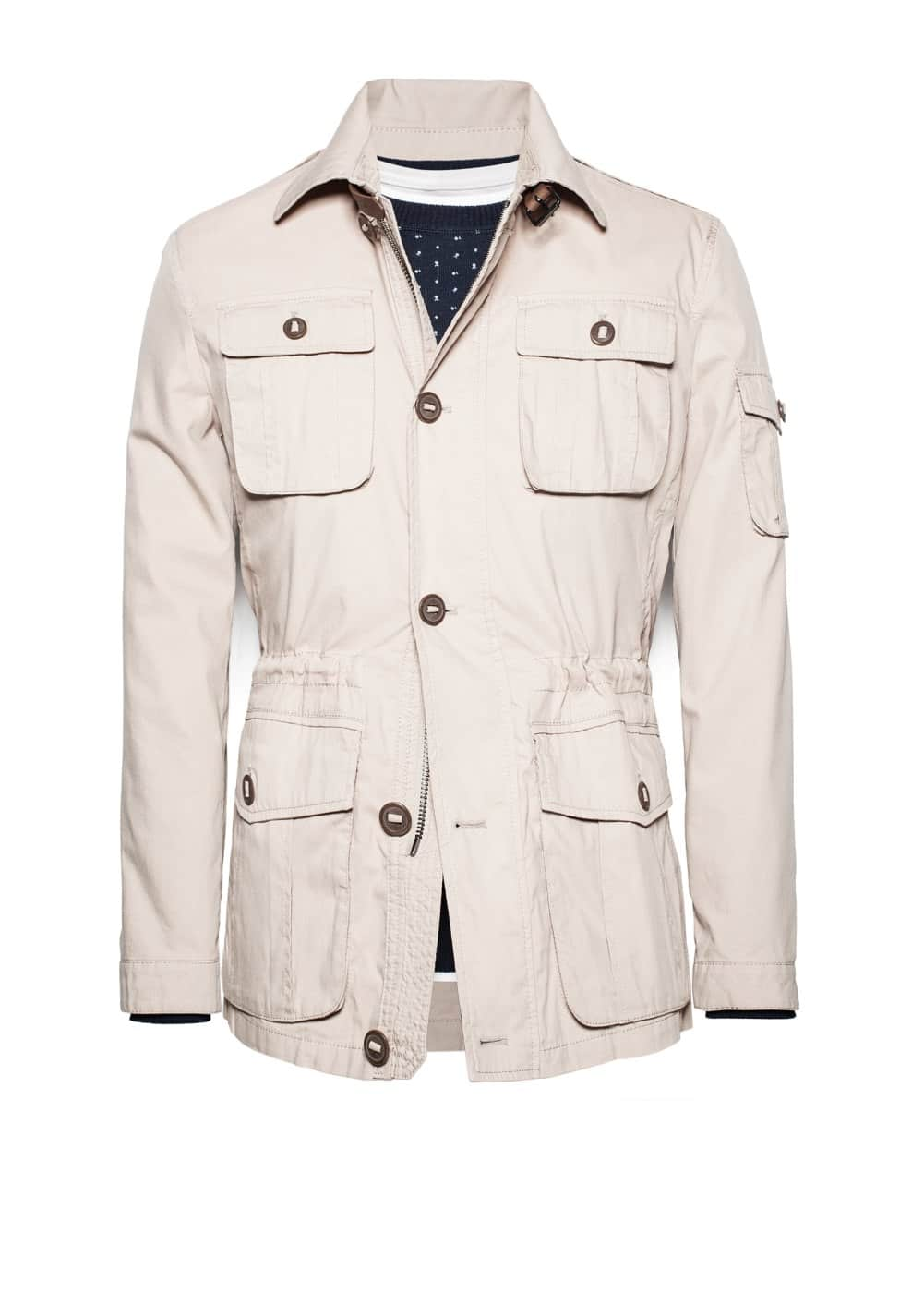 Cotton-blend field jacket