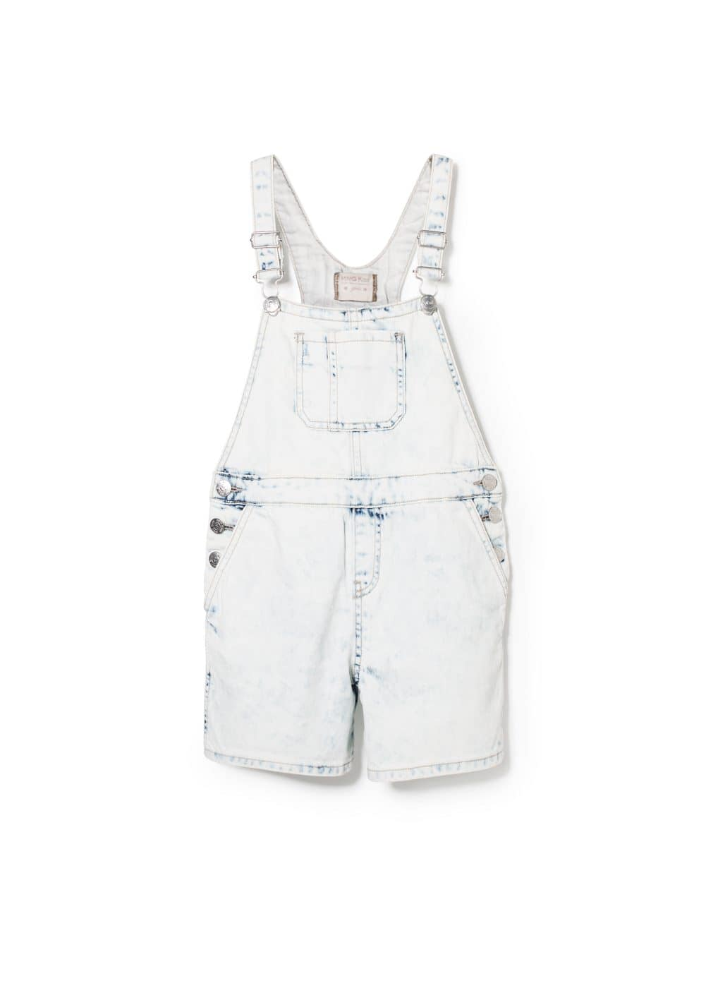 Bleached denim dungarees