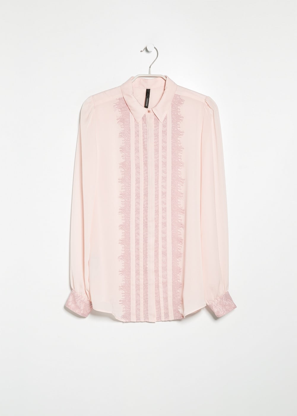 Lace panels shirt