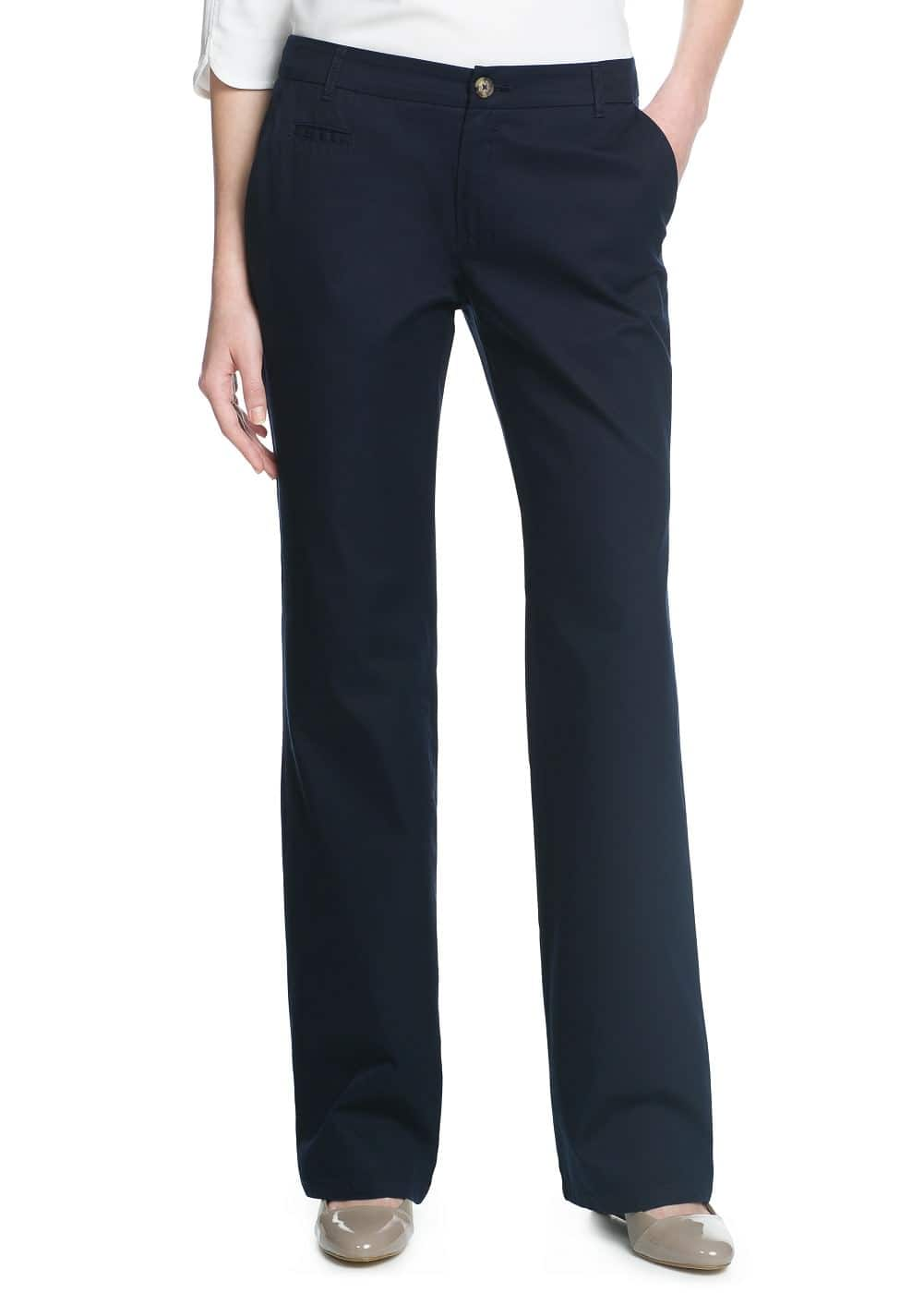 Straight-fit chino trousers