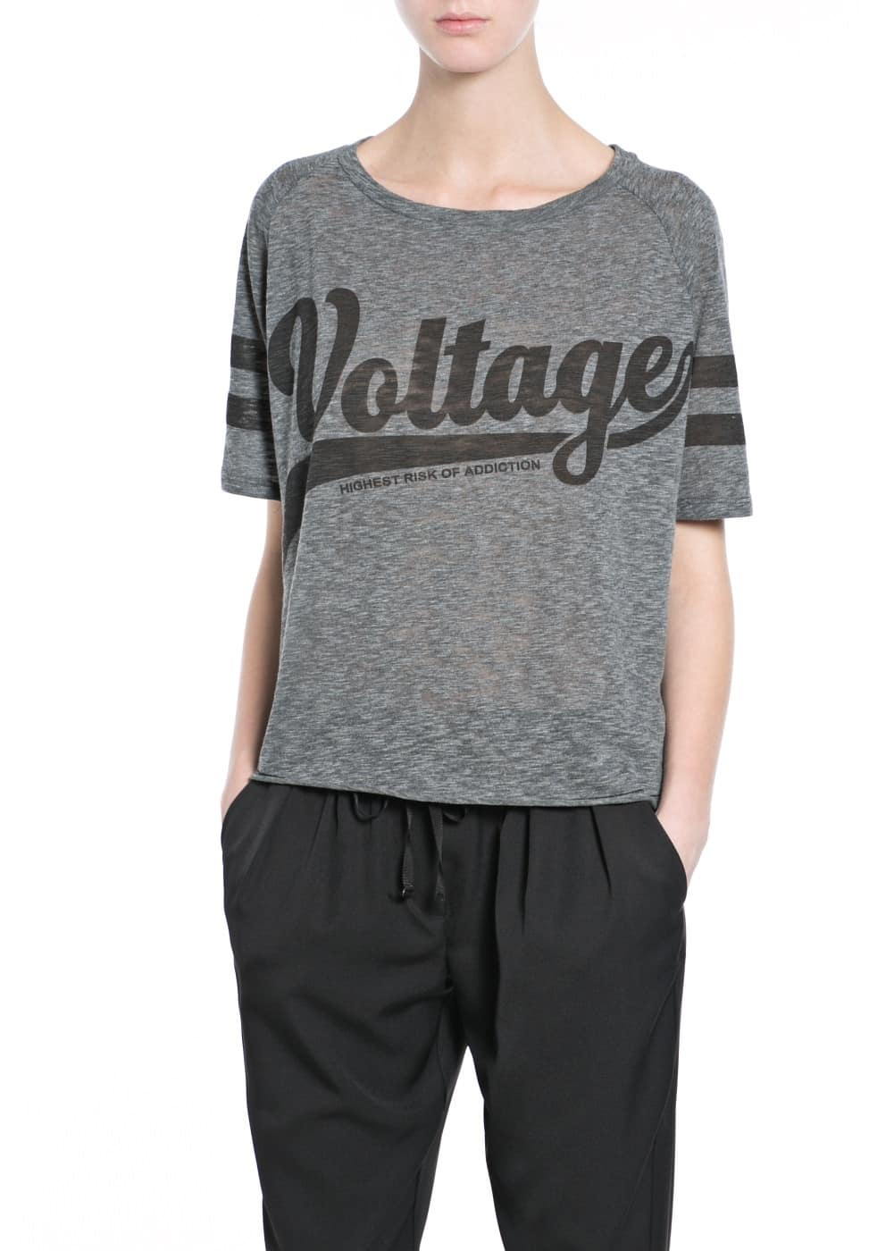 T-shirt oversize voltage | MANGO