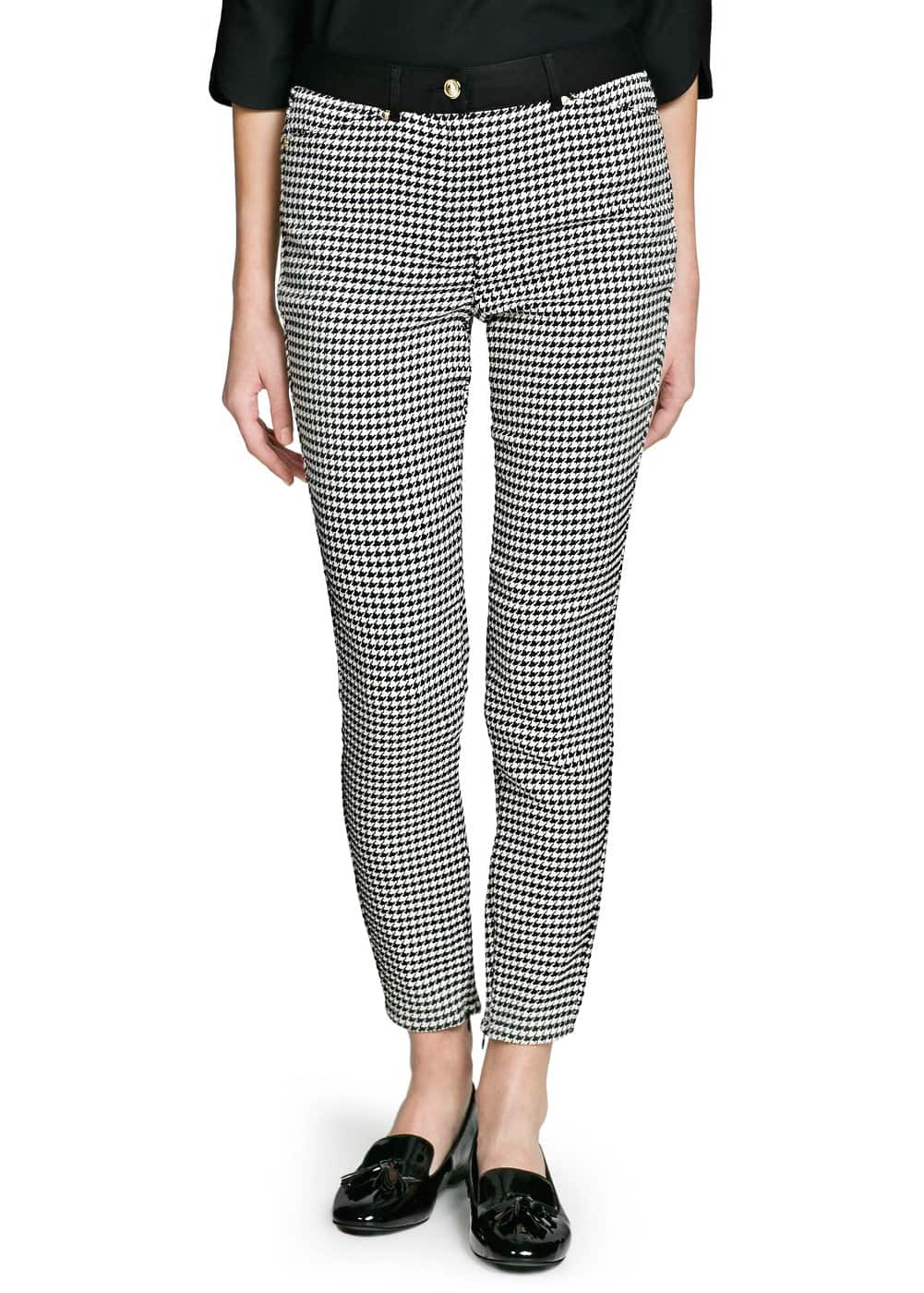 Slim-fit houndstooth trousers | MANGO