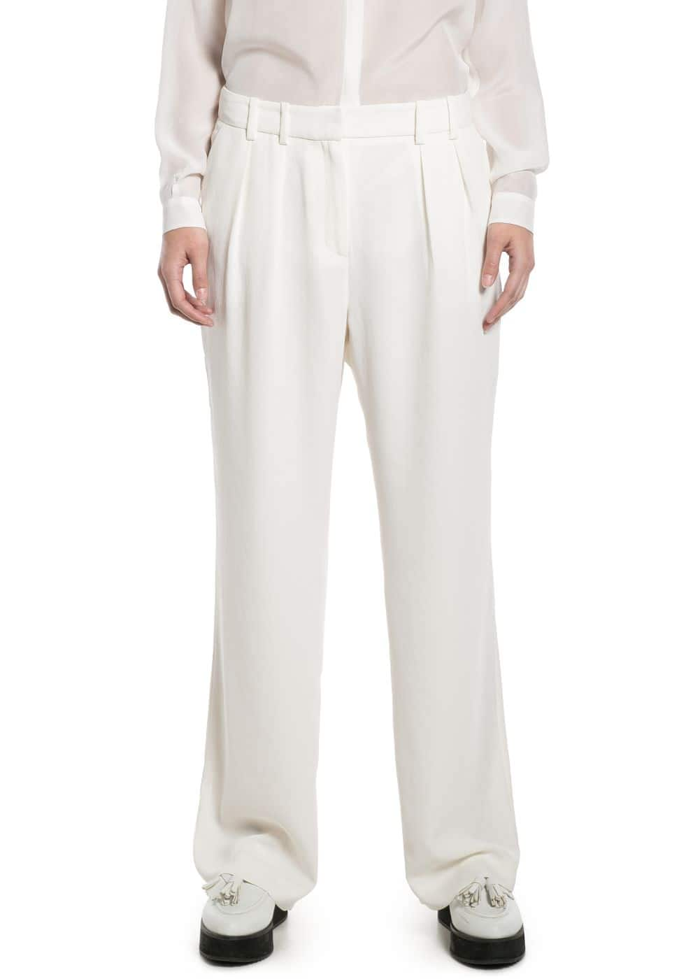 Pleated crepe trousers | MANGO