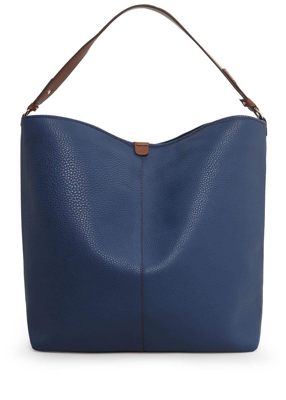 Pebbled shoulder bag