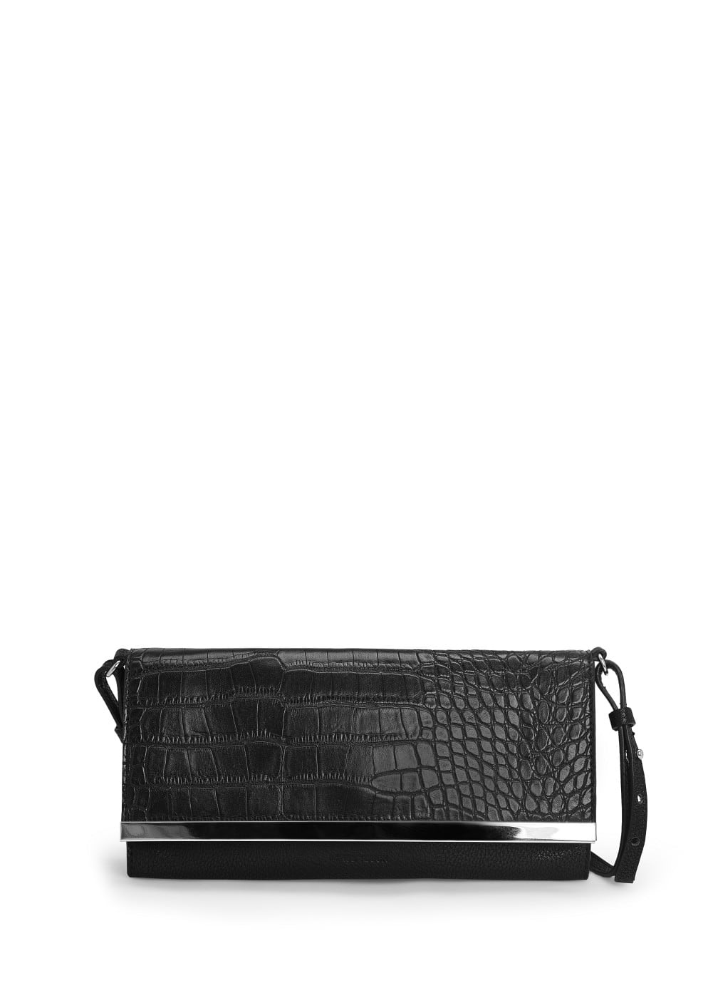 Croc-effect clutch | MANGO