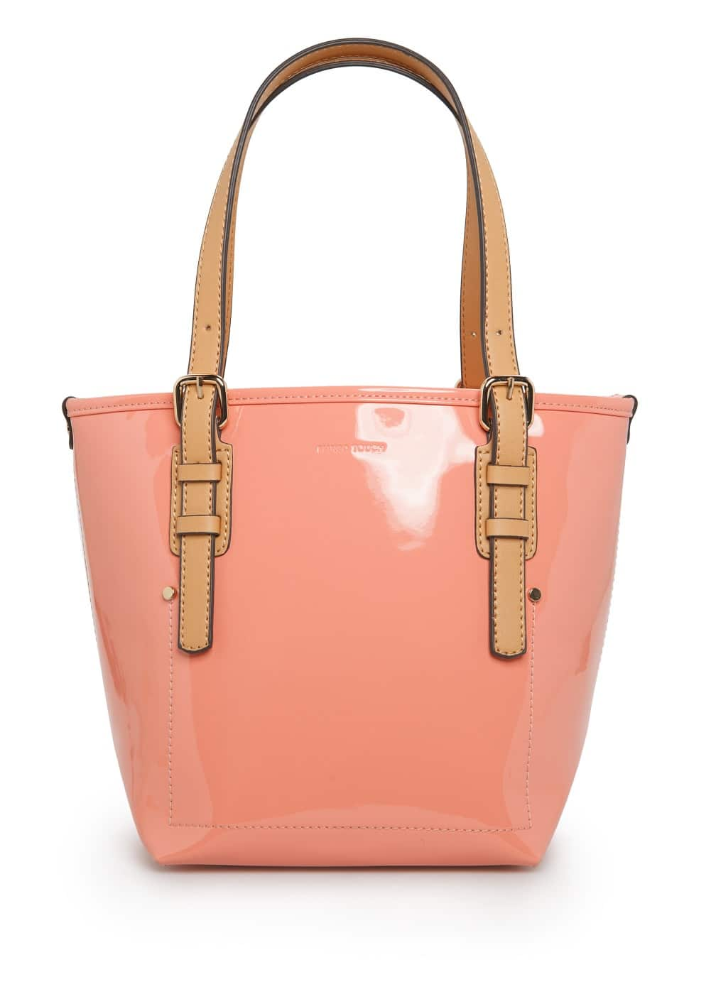 Patent shopper bag | MANGO