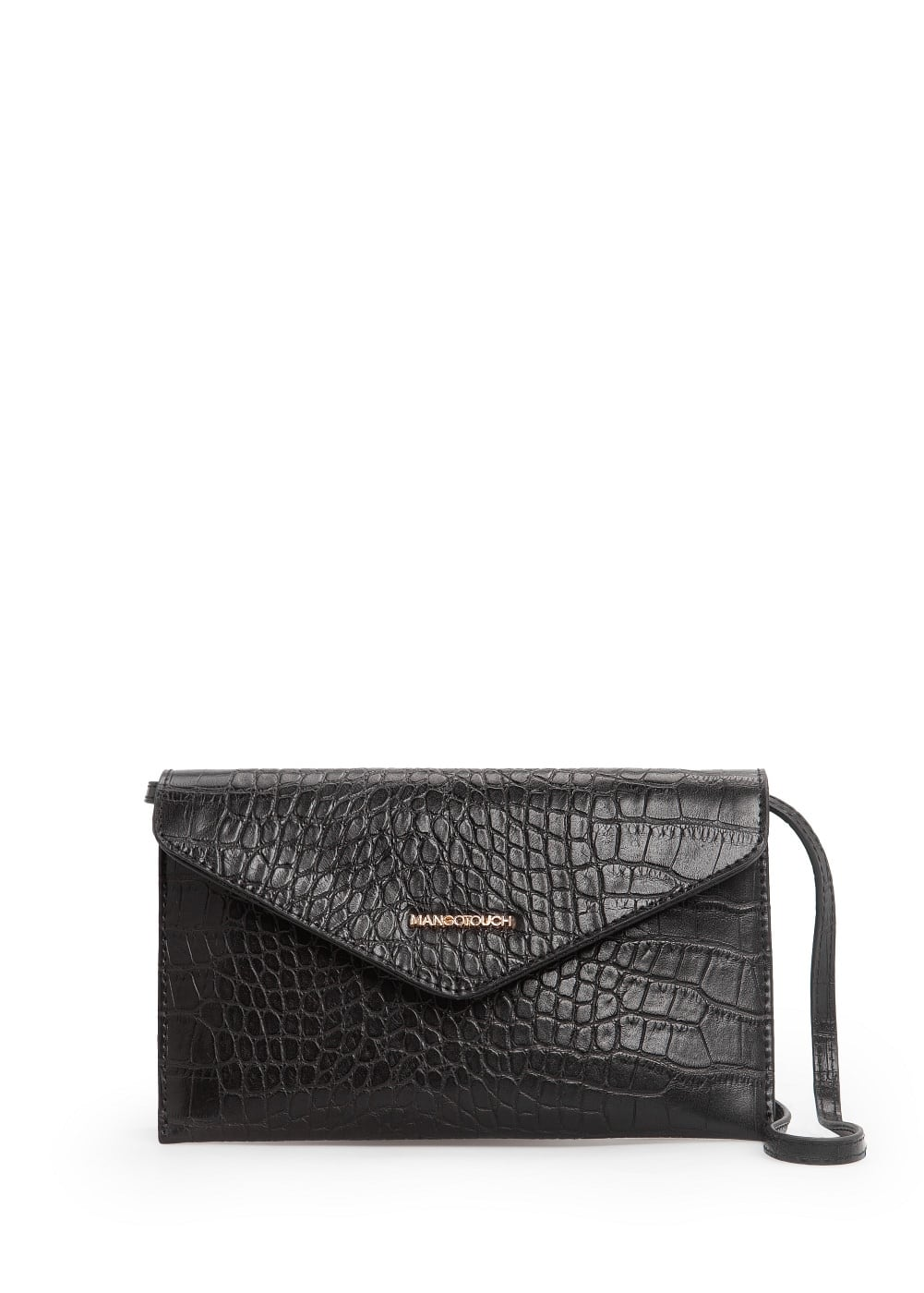 Croc-effect envelope bag