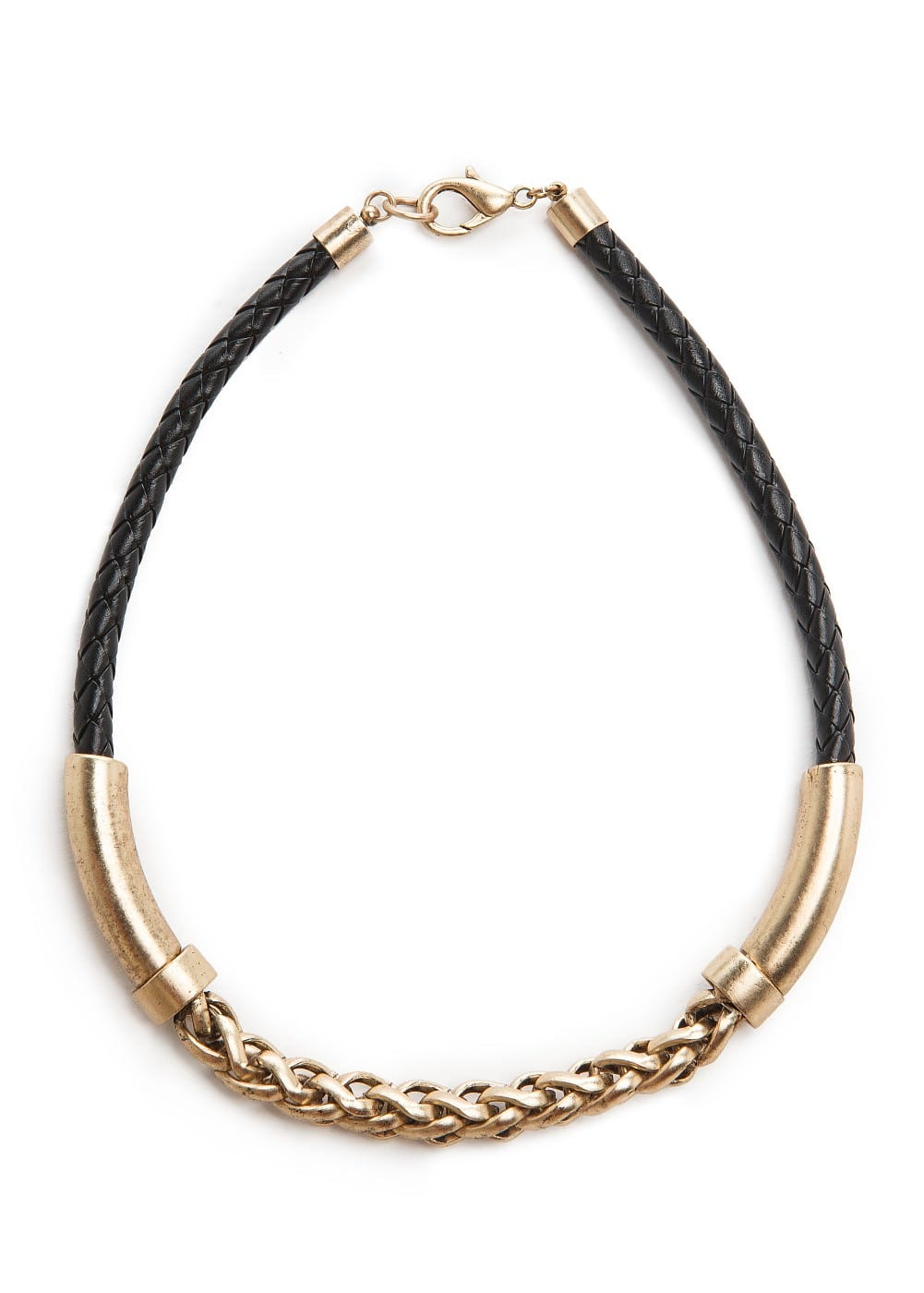 Chain combi necklace