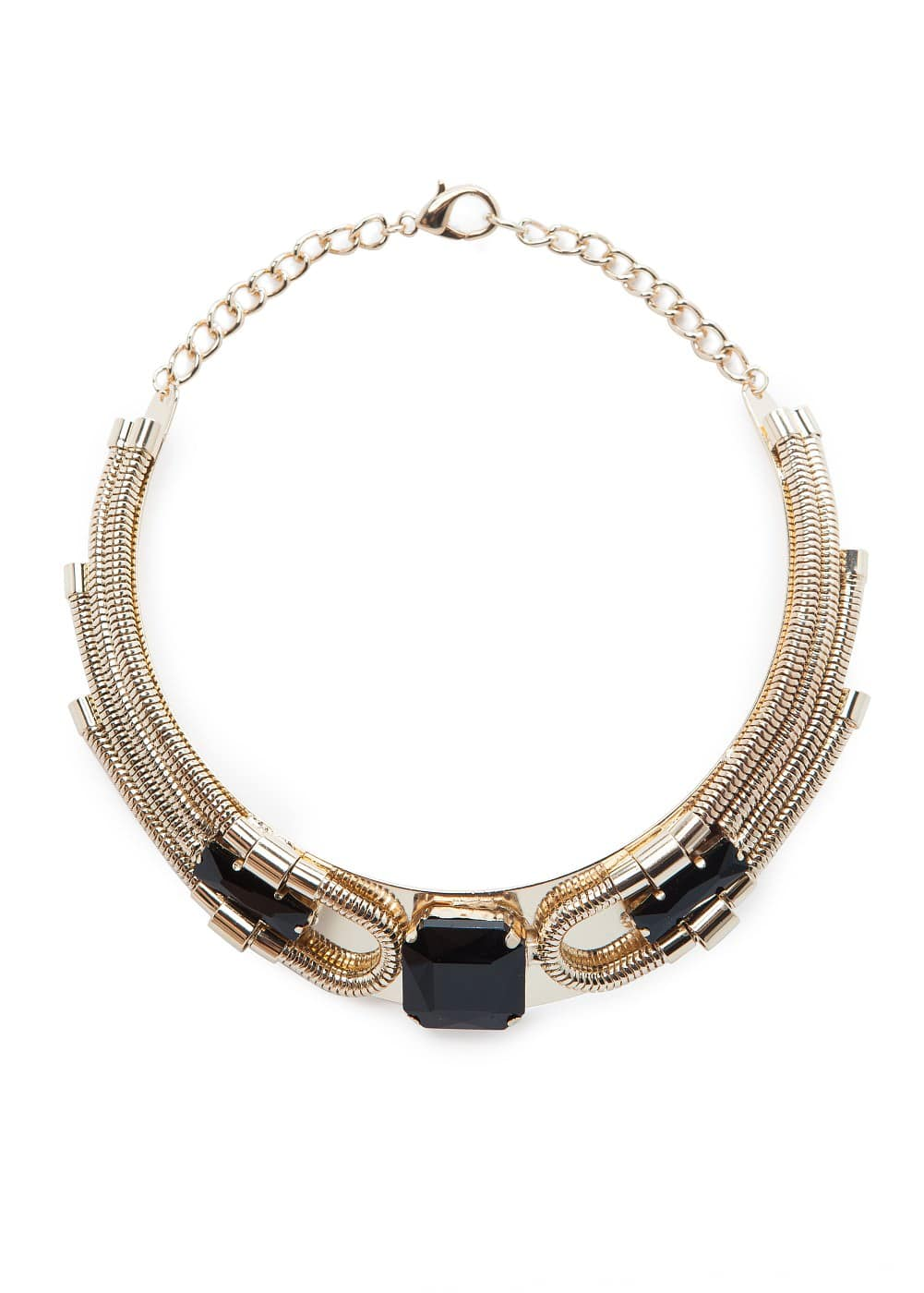 Faceted stone choker