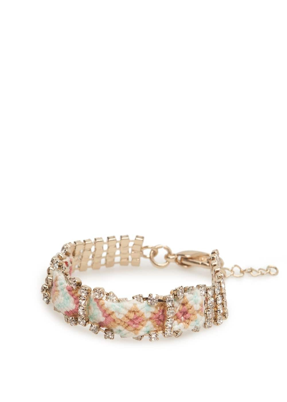 Crystal thread bracelet | MANGO