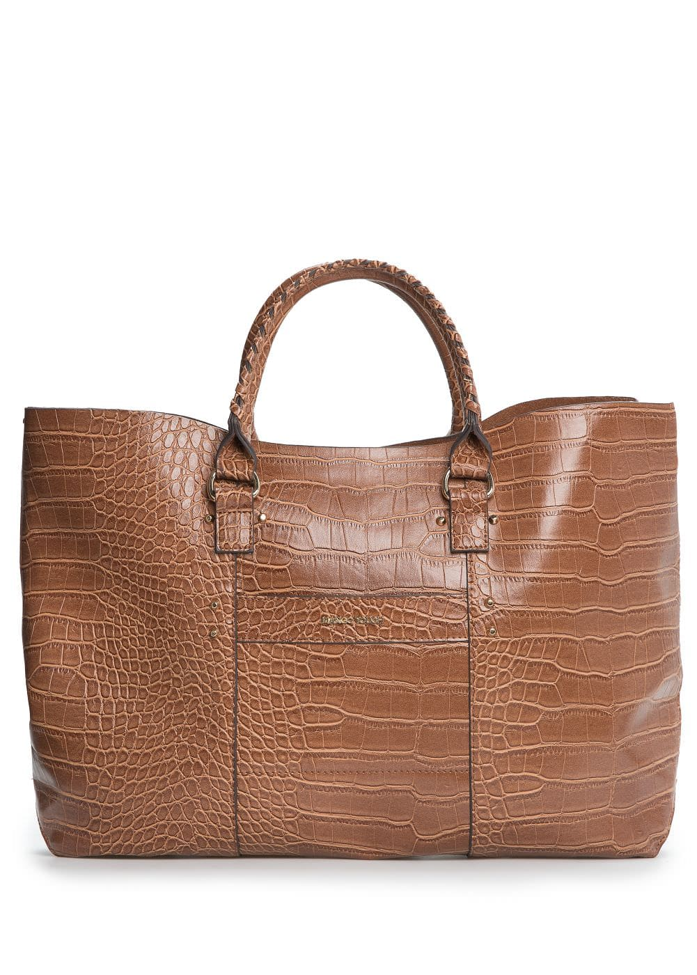 Croc-effect shopper bag | MANGO