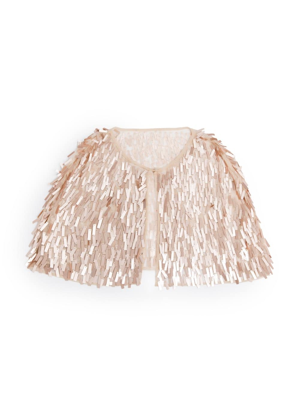 Rectangular sequin cape | MANGO