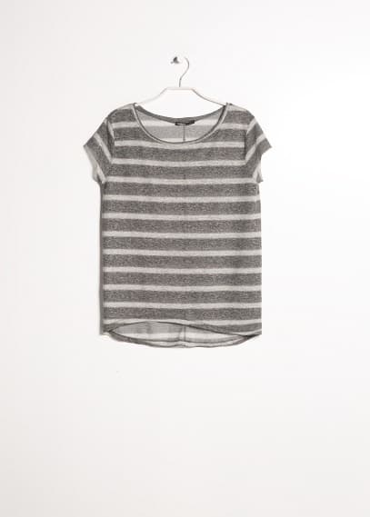 Striped linen-blend t-shirt