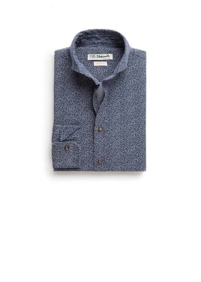 Slim-fit liberty print shirt