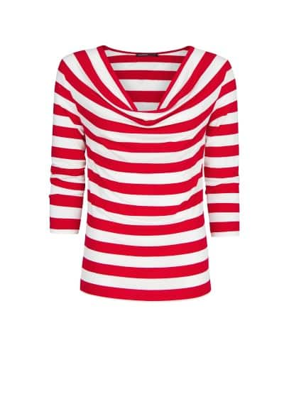 Striped draped t-shirt