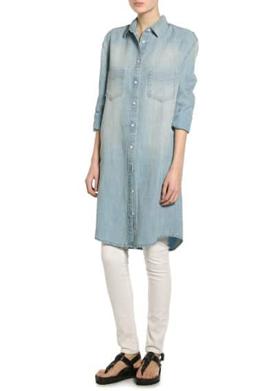 Linen tencel-blend dress
