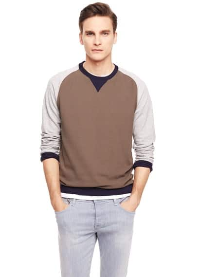 Tricolor textured sweatshirt