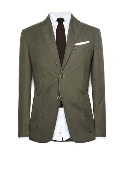 Washed cotton blazer