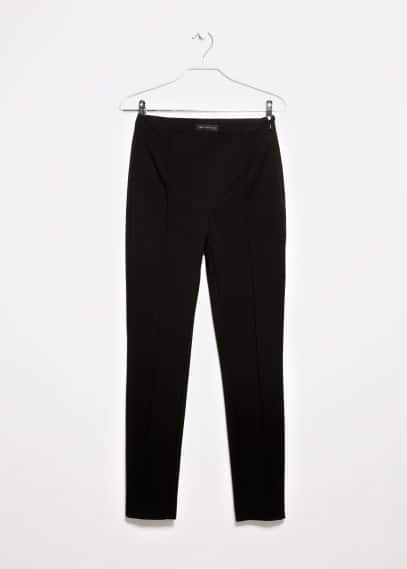 Pantalon cigarette chevron