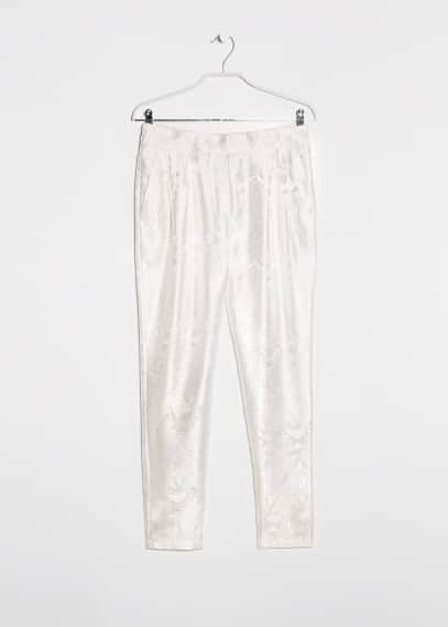 Snake satin baggy trousers