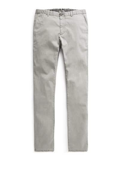 Verwassen katoenen slim-fit chino