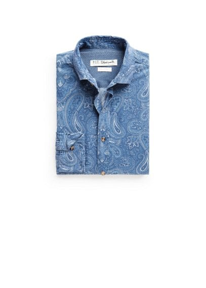Slim-fit paisley print shirt