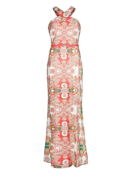 Paisley print long dress