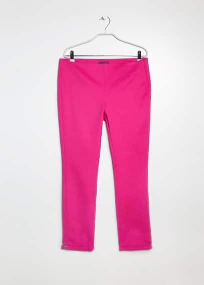 Cotton tencel-blend trousers