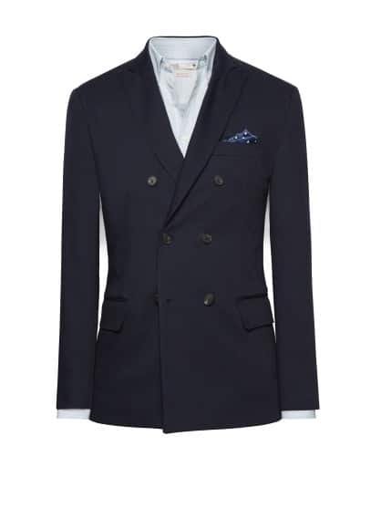 Informele double-breasted blazer