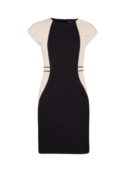 Bicolor fitted dress