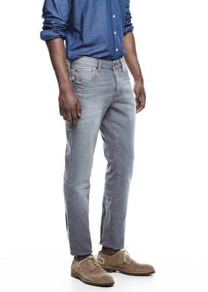 Graue Slim Fit Jeans Tim