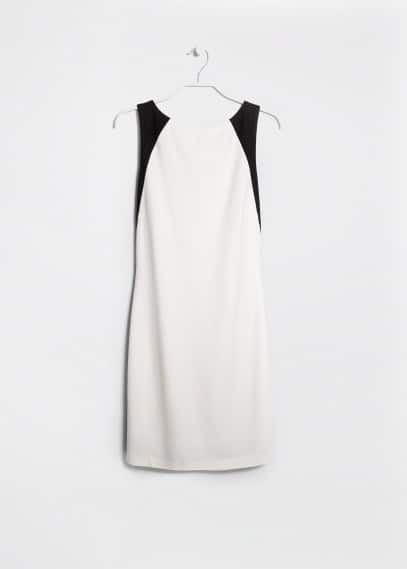 Stretch bicolor dress
