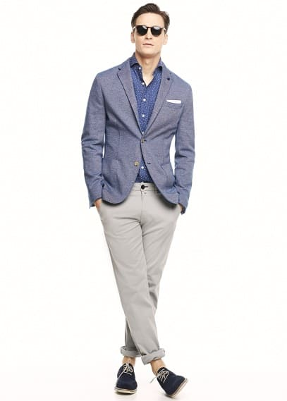 Unstructured jersey blazer