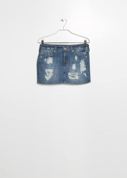 Medium denim miniskirt