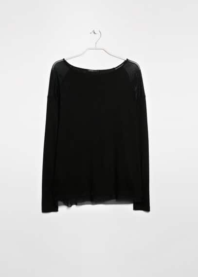 Tulle panels t-shirt