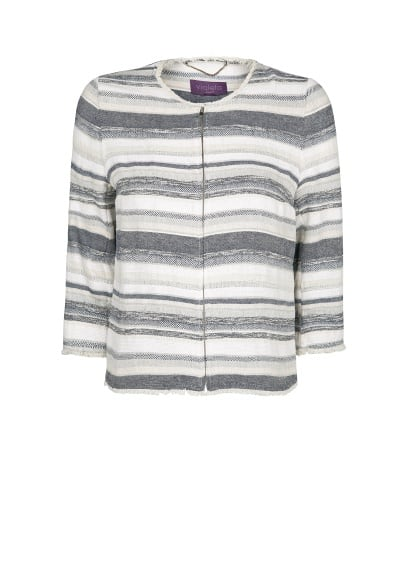 Striped jacquard jacket