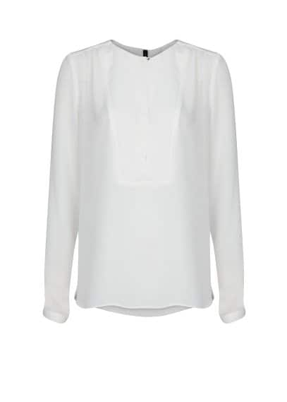 Panel textured blouse