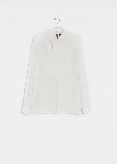 Pleated detail blouse