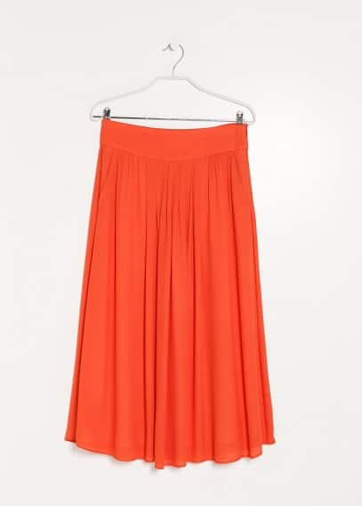 PREMIUM - Pleated long skirt