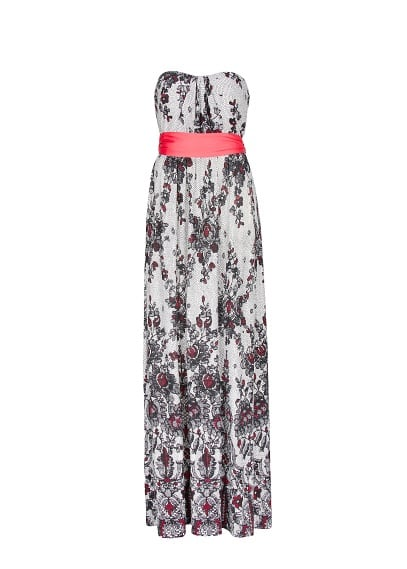 Lace print long dress