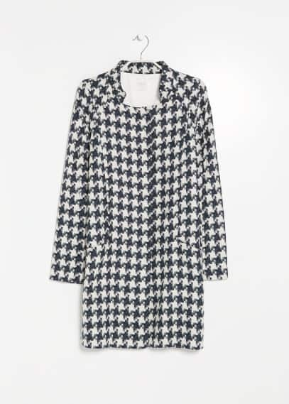 PREMIUM - Houndstooth coat