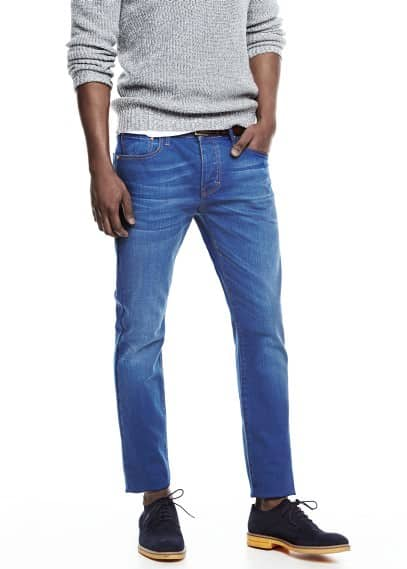 Inktkleurige Tim slim-fit jeans