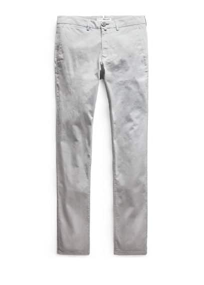 Straight-fit cotton chinos