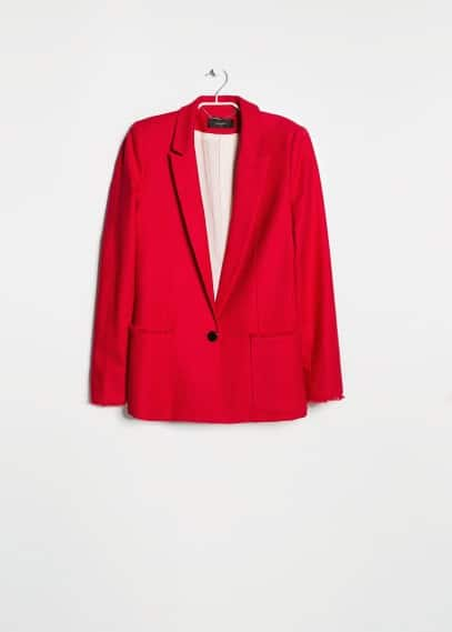 Frayed edge blazer